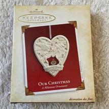 Hallmark Keepsake Our Christmas A Milestone Ornament New - $9.89