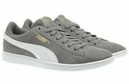 Neu Puma Damen Wildleder Vikky Grau Tennis Fitness Schuhe Sneaker