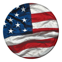 Patriotic Symbol Flag 8 9 inch Lunch Plates 4th July Stars Stripes - $4.79