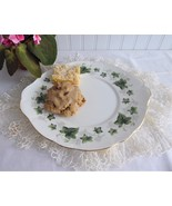 Cake Serving Plate Green Ivy Leaves Blossoms Duchess Ivy 1970s English B... - $38.00