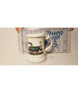 Vintage Enesco Steam Engine Train Locomotive Mustache Cup Mug Stein Very... - $9.05