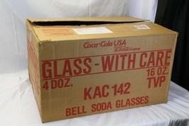 48 Libbey 16oz Coke Coca Cola Glasses Bell Shaped  - $195.02