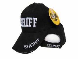 Embroidered Black Sheriff Police Hat Law Enforcement Military Premium Cap - $21.77