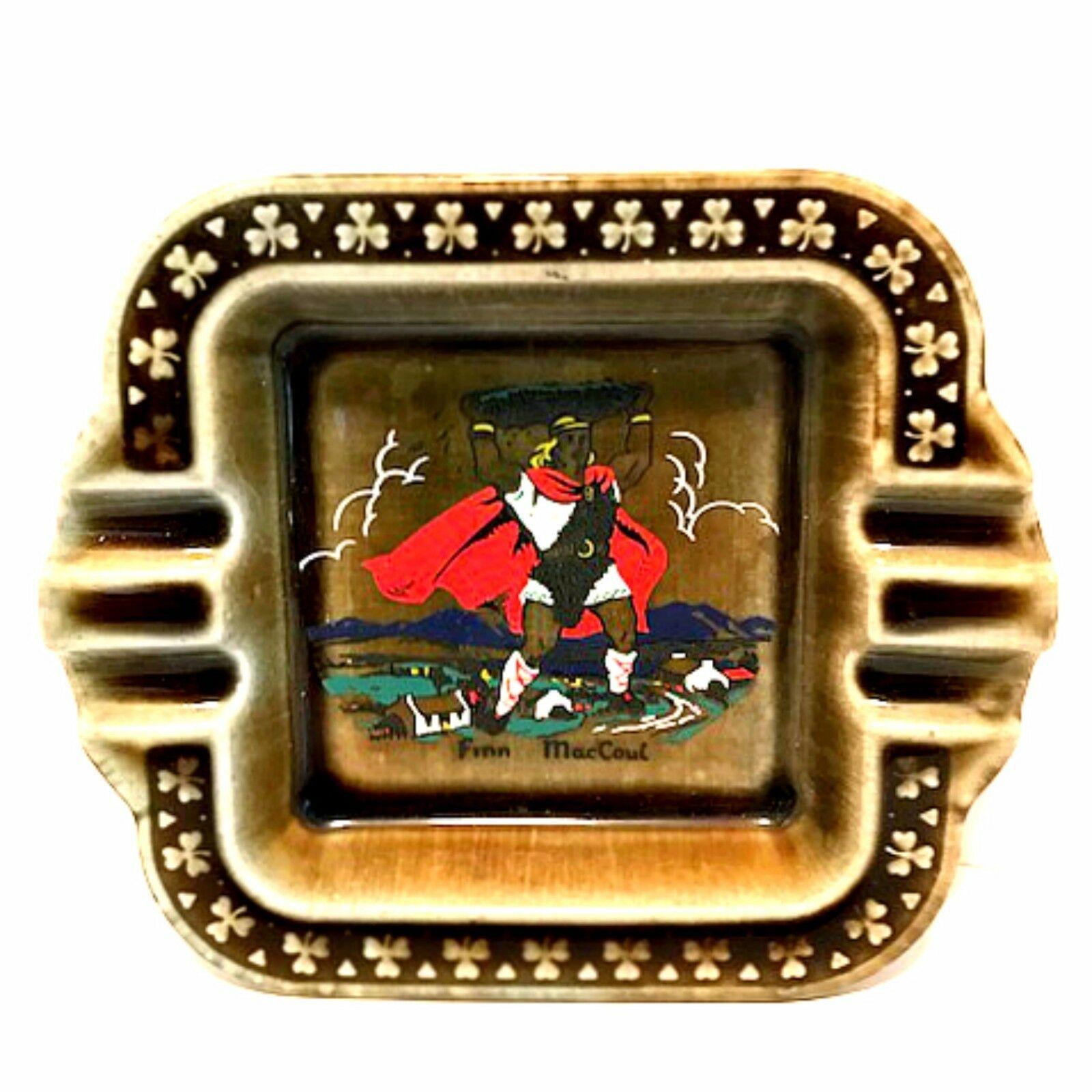 Vintage Irish Porcelain Ashtray Finn MacCoul Wade Pottery Ireland 6.25 in Long - $34.64