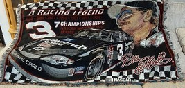 """DALE EARNHARDT SR #3 NASCAR """"A RACING LEGEND"""" ACRYLIC TAPESTRY/THROW COL... - $40.00"""