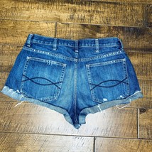 Abercrombie&Fitch Jean Cutoff Booty Shorts Womens Size 10 Distressed Des... - $19.99