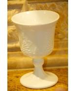 """Vintage Indiana Glass Harvest Grape White Milk Glass 5"""" Stemmed Goblet U... - $19.99"""
