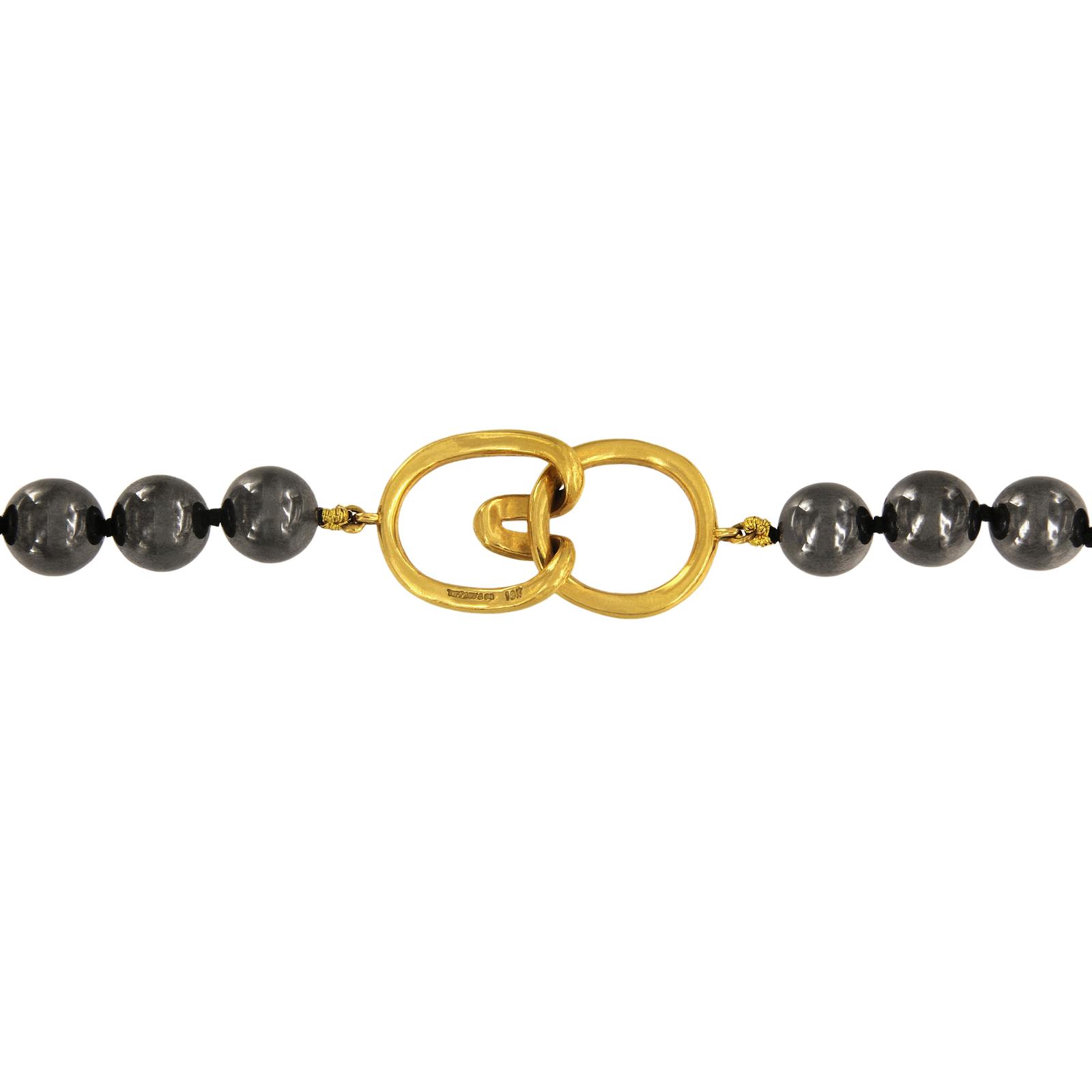a92ea2a3c Rare TIFFANY & CO. 18K Yellow Gold & 8mm Black Onyx Round Bead 32