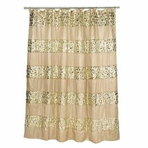 """Popular Bath Shower Curtain, Sinatra Collection, 70"""" x 72"""", Champagne/Gold - $26.34"""