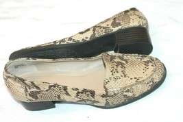 Ellen Tracy Python / Snake Faux Leather Loafers Shoes Size 8.5 M Grooves - $17.82