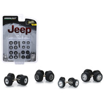 Jeep Wheel and Tire Multipack Set of 24 pieces Wheel and Tire Packs Series 1 1/6 - $13.08
