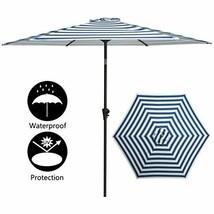TAGI 9 feet Hand Shake Outdoor Patio Umbrella 6 Rib Crank Lift Hand tilt... - $47.13
