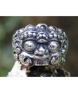 925 Silver, Barong, Blessing, Symbolize, Bali, Men's Ring SR-277-DG - $26.00