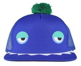 Neff Men's Blue Monster Snapback Baseball Pom Hat Cap NWT image 1
