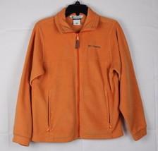 Columbia vintage youth kids unisex fleece jacket orange polyester size 14-16 - $16.61