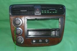 01-05 Acura EL Honda Civic Radio Bezel AC Control Dash Vents WoodGrain Trim image 1