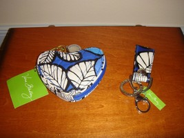 Vera Bradley Blue Bayou Sweetheart Coin Purse And Loop Keychain - $35.49
