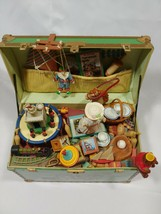 1986 Enesco Treasure Chest Of Toys Wind Up MUSIC BOX With Box - Animated - $49.99