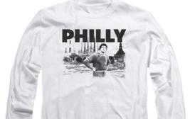 Rocky Movie Philly Retro 70's 80's Rocky Balboa long sleeve graphic Tee MGM384 image 3
