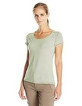Large 12-14 White Sierra Women's Kalahari II Short Sleeve Tee Shirt Sand NEW