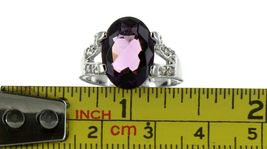 Ladies Size 7.75 Sterling Silver Amethyst Fashion Ring No, 2114 image 7
