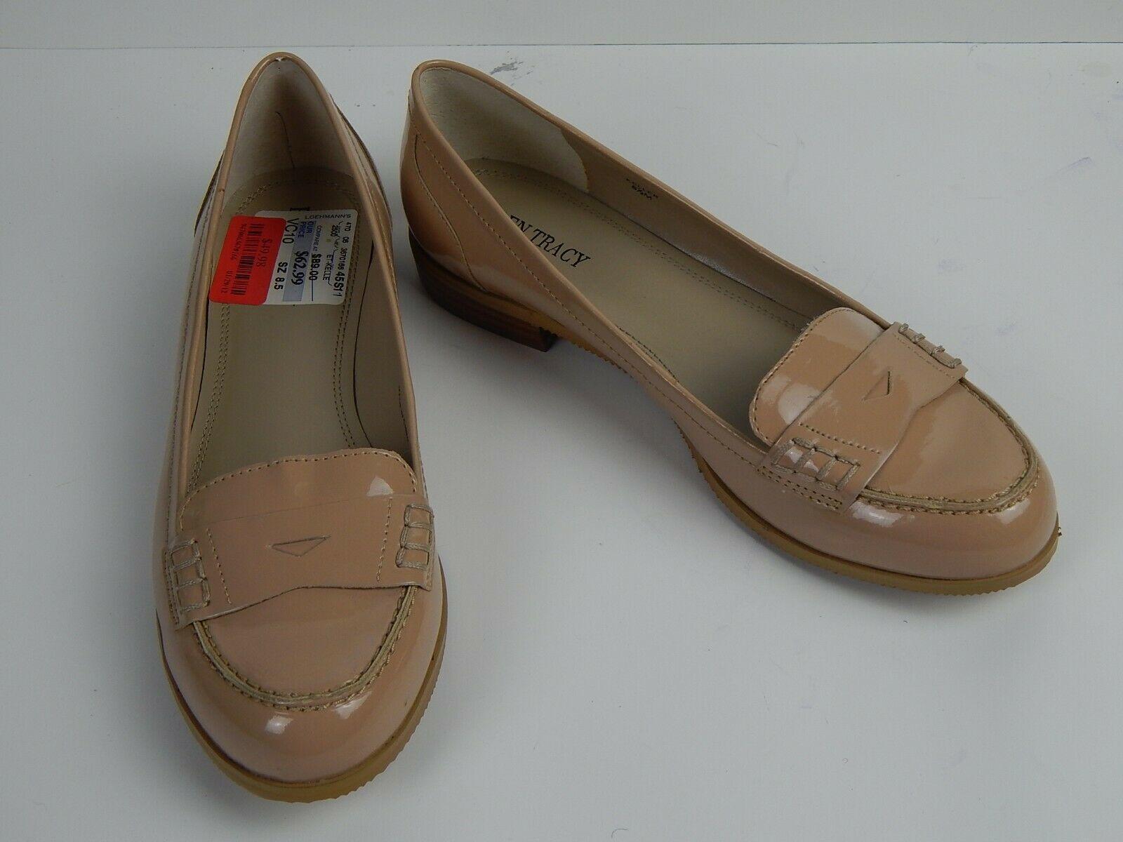 Ellen Tracy Women's Keller Penny Loafer Beige Shoes US Size 8.5 M - $39.00
