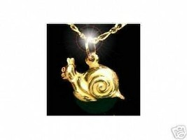 SALE Gold plated over sterling silver Snail shell  slug Pendant Charm An... - $17.20