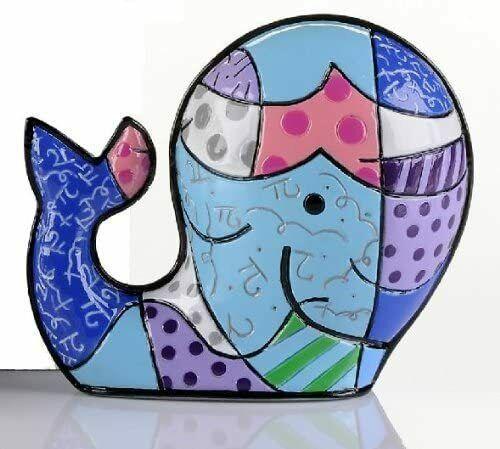 Romero Britto Brendan's Whale Mini Figurine # 331844 Collectible Retired Rare