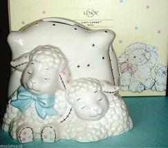 Lenox Lazy Lambs Coin Piggy Bank Baby Toddler Boy/Girl $72 New - $22.90