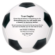 Custom Full Size Soccer Ball To Our Daughter Wedding, Birthday, Christma... - $59.95