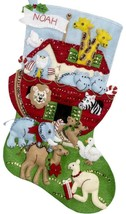 Bucilla Noahs Ark Animals Religious Christmas Holiday Felt Stocking Kit 86976E - $38.95