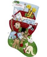 Bucilla Noahs Ark Animals Religious Christmas Holiday Felt Stocking Kit ... - $38.95