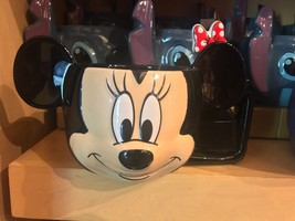 Disney Parks Exclusive Minnie Mouse Face Soup Cup W/ Spoon New - $38.79