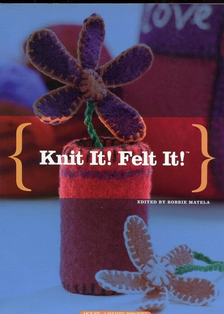 Primary image for Knit It! Felt It! Hats Mittens Slippers Purses Pillows 176 Pages NEW Patterns