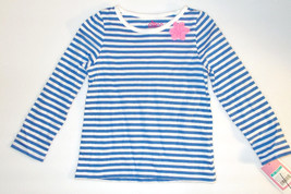 Circo Toddler Girls Blue and White Striped Long Sleeved Shirt Sizes 18M NWT - $6.29