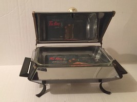 Anchor Hocking Chafing Dish Mid Century Modern Footed Fire King MCM Vintage 1960 - $88.11