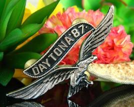 Vintage Daytona 1987 Motorcycle Rally Soaring Eagle Pin Jacket Biker image 5