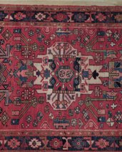 Tribal Inspired Olde Runner Persian Hand-Knotted 2' x 11' Red Heriz Wool Rug image 11