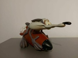 Extremely Rare! Looney Tunes Wile E Coyote on Rocket Big Figurine Statue - $2,475.00