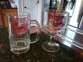 Vintage Glass Collectable Falstaff Beer Mug & Goblet - $34.95