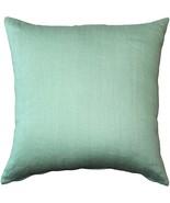 Pillow Decor - Tuscany Linen Aqua Green 17x17 Throw Pillow - $29.95