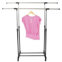 Dual-bar Vertical Horizontal Stretching Drying Rack Clothes Dryer Hanger... - $23.84