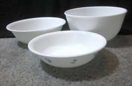 """3 count Vintage Corelle by Corning Soup Cereal Bowls 5 3/8""""- 6 1/4"""" White   - $2.45"""