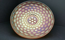 Carnival Glass Westmoreland Pearly Dots Marigold Iridescent 8.75 Inch Bo... - $32.36