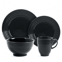 Gibson Stanza 16 pc Stoneware Dinnerware Set- Black - $65.90