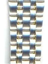 Seiko Unisex 16mm Two-Tone Stainless Steel Link AU06244N 7T32-7C69 - $24.75