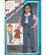 Simplicity 6608 Child's Pants, Skirt, Shirt &  Vest - $2.00