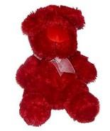 Nanco Red Puppy Dog Long Hair Big Nose Plush Lovey Stuffed Animal 15 inc... - $28.59