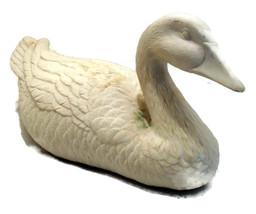 Vintage Bisque Unpainted Swan Figurine  - $35.00
