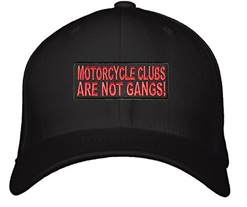 Motorcycle Clubs Are Not Gangs Hat - Adjustable Mens Black - Rider Cap